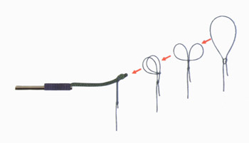 как завязать леску на удилище без колец