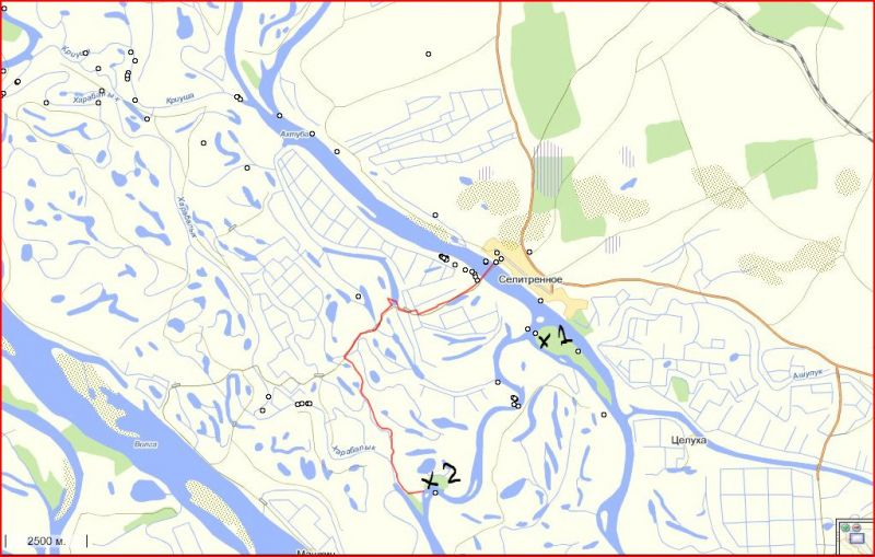 селитренное харабали рыбалка карта рыболовных мест